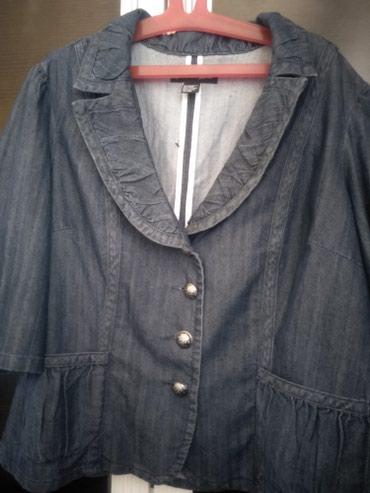 джинсовый пиджак в Кыргызстан: Джинсовый пиджак. 3xl новый. качество отличное. на весну актуально