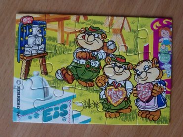 Kinder Top Ten Teddies in Volksfeststimmung (1996) 3/4 PUZZLE  - Cacak