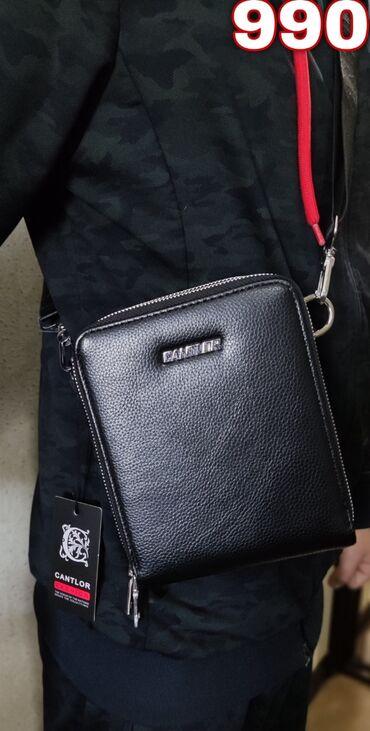 сумка для в Кыргызстан: Барсетка cantlor (новая)цвет чёрныйматериал кожакачество цена 800с