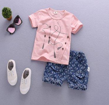 Комплекты футболка и шорты. Качество отличное. Размеры 90 см, 100 см в Бишкек