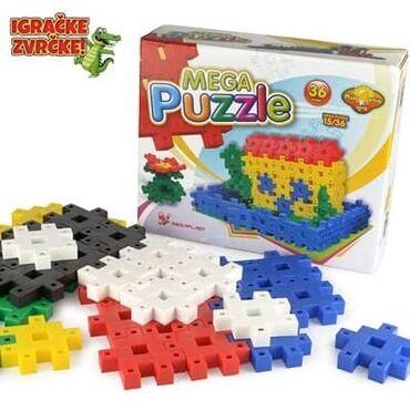 Mega puzle  Polovne, ocuvane.  Kutija ostecenja.  Uklapaju se po princ