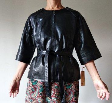 Куртка из телячьей кожи. Новая. Торг в Бишкек