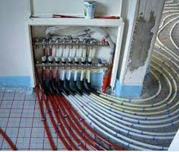 тёплый полы водяные сантехника в Кыргызстан: Теплый пол водяной установка монтаж демонтаж