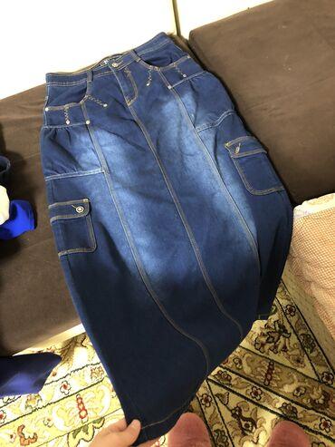 Юбка джинсовая длинная  Новая. продаём за 500 сомов  Размер 28