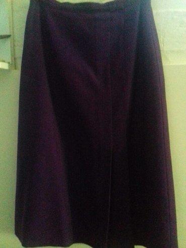 Ljubicasta suknja 100% vuna... 40 ekstra. Obucena. Par puta.... Sve - Loznica