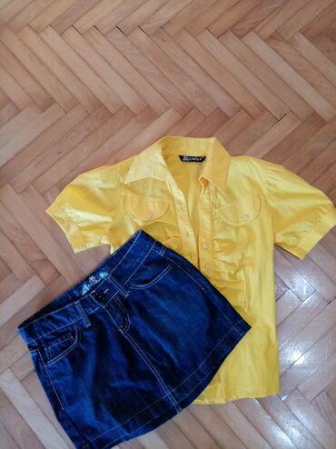 Zenski suknja - Srbija: Zenska kosulja i texsas suknja Odgovara s Vel
