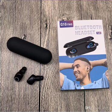 �������������� q10 �������� ������������ в Кыргызстан: Bluetooth гарнитура AirTwins Q10 — полностью беспроводные наушники, в