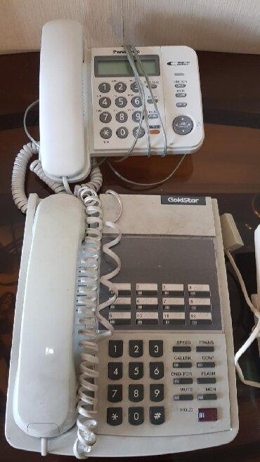 Маленькие-телефоны - Кыргызстан: Стационарные телефоны бу, все рабочие. Офисный с функцией на
