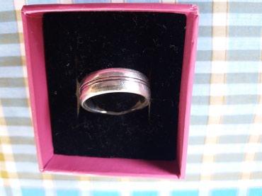 Серебряное женское обручальное кольцо размер:18-19, 925 пробы. Б/у в Бишкек