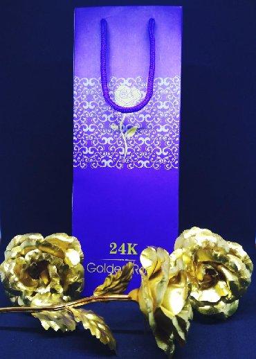 Роза покрытая 24К золотом-восхитительный подарок для любымых.  Подарит