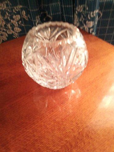 Антикварные вазы - Кыргызстан: Вазочка хрустальная, небольшая.элегантнаяВ хорошем состоянии