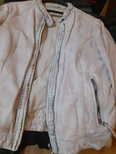 Zenska jakna od bele koze,italijanska NOVA