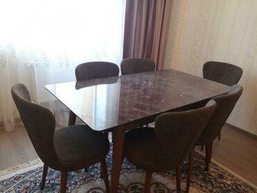 qobu - Azərbaycan: Stol stul desti satılır Türkiyənindi 900 azn alınıb 1 aydı alınıb. 700