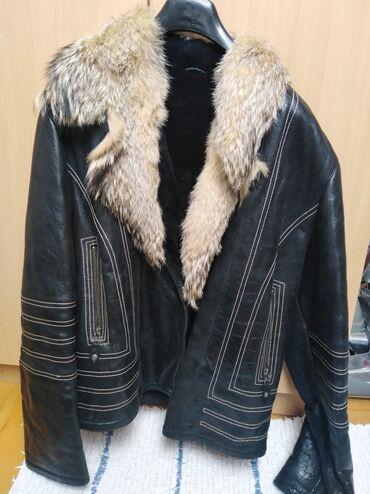 Muška odeća | Lazarevac: Original muška kožna jakna, pravo krzno, udobna i prijatna. Cena 80e