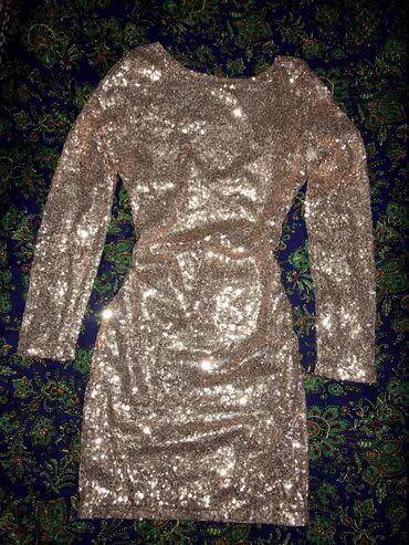 платье рубашка в пол в Кыргызстан: Платье в идеальном состоянии, полностью обшитое пайетками