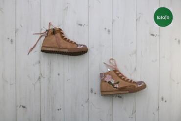 Дитячі черевички з вишивкою і блискітками Grazie, р. 31   Стан гарний