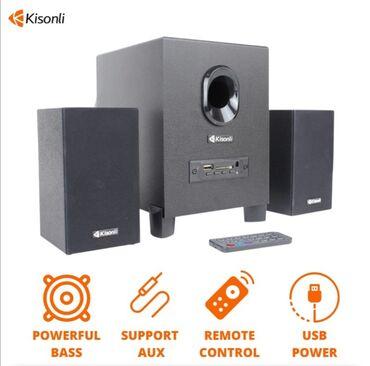музыкальные центры в Кыргызстан: Колонки для компьютера с сабвуферомИсточник питания USB DC 5VВход для