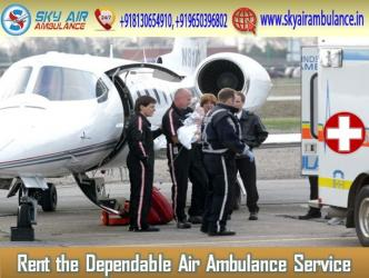 Take Safe Patient Transfer Service by Air Ambulance from Coimbatore in Kathmandu