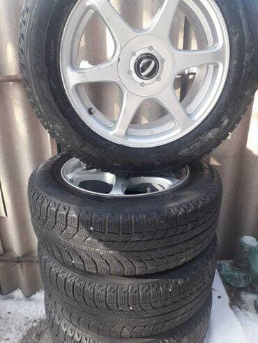 бэушные шины в Кыргызстан: Продаю зимние шины с дисками размеры 215/60/16