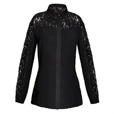 Черная блузка 44-46 -48р 1900 сом