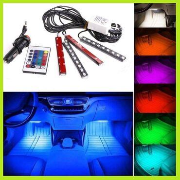 LED RGB dekorativno svetlo - 4 savitljive trake sa daljinskim- Sa ovim