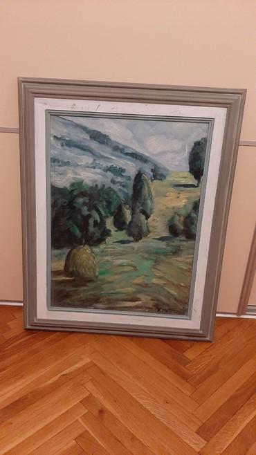 Slike | Crvenka: Slika  53×67 ulje,planinski motiv