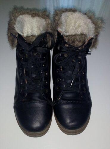 Patike cipele - Srbija: Zimske cipele sa krznom br. 36. Eko koza, cele postavljene, mekane