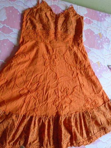 Nošena ali lepa i može još da se nosi, narandzasta letnja haljina. - Belgrade