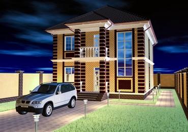 Продаётся готовый проект двухэтажного дома  Габариты: 9,53 × 11,60 в Бишкек