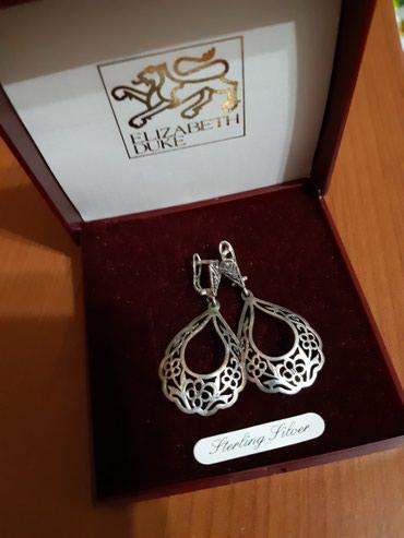 Серьги б у - Кыргызстан: Продаю б/У серебряные сережки