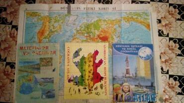 Bakı şəhərində Xeriteler toplusu.Həm dünya xəritəsi, həm də Azərbaycan. Hamsı