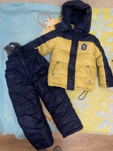 Зимний костюм куртка и комбинезон б/у в Бишкек