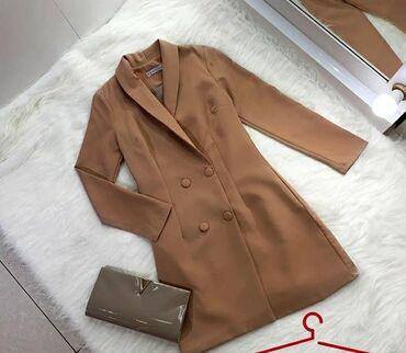 платье рубашка лен в Кыргызстан: Продаю платье пиджак, надевала 1 раз, покупала за 2500