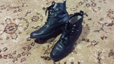 Prelepe koŽne naloŽene bata duboke cipelice. Super stanje odliČno - Kragujevac