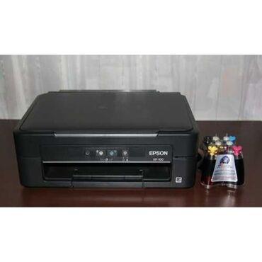 сканеры qpix digital в Кыргызстан: Цветной принтер, МФУ 3 в 1 Epson XP-100 с СНПЧ / Доноркой Черно-белая