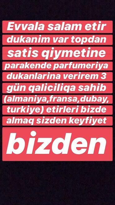 etirler - Azərbaycan: Etirler Parakende topdan satis qiymetleri