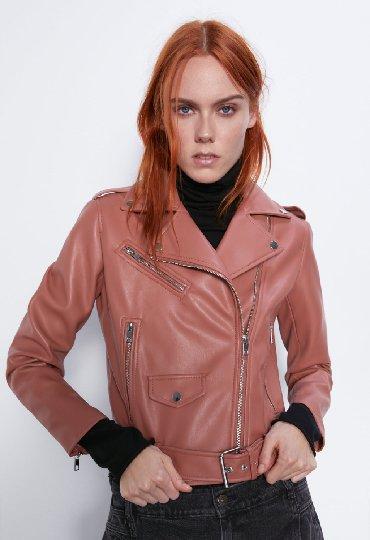 Куртка экокожа Зара оригинал. Новая! Размер М. Цена 3900 вместо 5000!