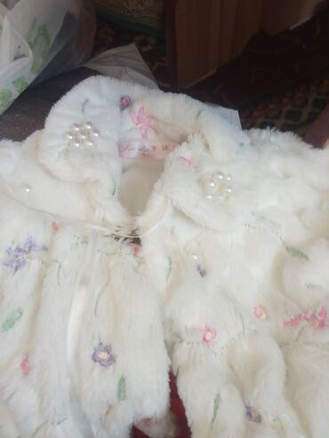 Детский мир - Балыкчы: Детская шубка поверх платья. На 2-3 годика. Б.у состояние хорошее