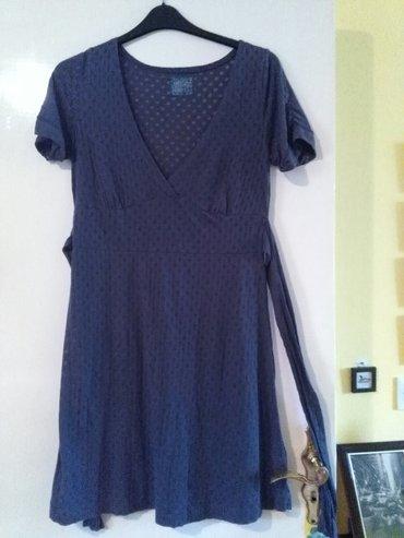 Haljina za krupnije 42 broj,mekana ko dusa,teget plava sa providnim - Sombor