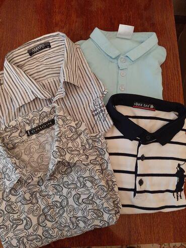 Рубашки подростковые с коротким рукавом 100% хлопок, 250 сом за все