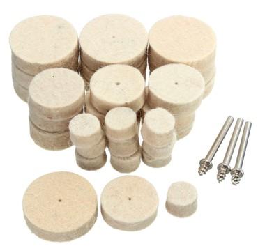 Instrumenti | Srbija: Komplet za poliranje sa tri vrste filc diskova: 5 x 13 mm, 5 x 25 mm