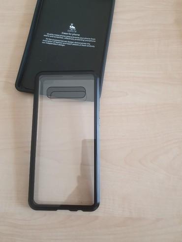 Mobil telefonlar üçün aksesuarlar Şəkida: Samsung s 10+ üçün 360 dərəcə qoruma. Barmaq izi sensoru keysin içində