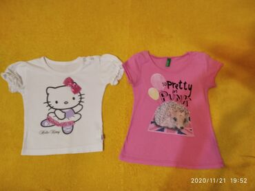 Majice za male devojciceHello Kitty vel 74 cmBenetton roze jezic 86
