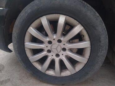 Автозапчасти и аксессуары в Базар-Коргон: Меняю диски от Мерседес размер 16меняю на17 диски с резиной только