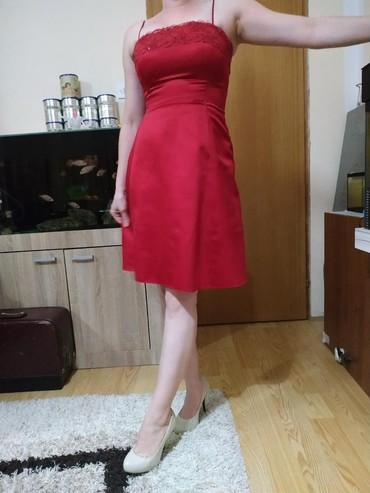 Crvena satenska haljina - Srbija: Dress Večernja Calvin Klein M