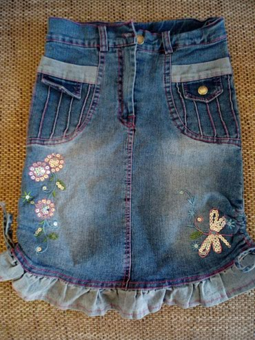 Teksas suknja za devojčice vel. 6 Lepo očuvana i bez oštećenja. - Crvenka