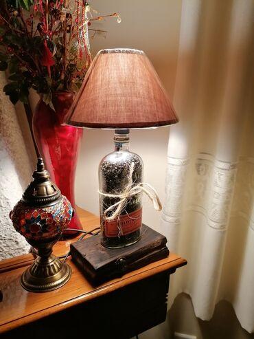 Σπίτι & Κήπος - Ελλαδα: Φωτιστικά επιτραπέζια με μπουκάλι και ξύλο. κυρίως μπουκάλια Jack Dan