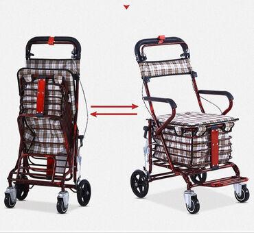 Новая инвалидная коляска, легко складывается. Оснащена ручным
