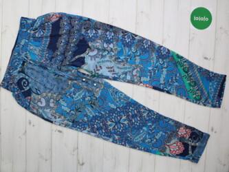 Женские штаны с узором Oodji,р.M      Длина: 95 см Длина шага: 68 см С