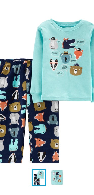 детская пижама для мальчика в Кыргызстан: Carter's из Америки. новая пижама на мальчика и девочку. размер 4